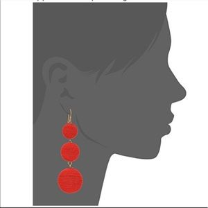 Kenneth jay lane red earrings
